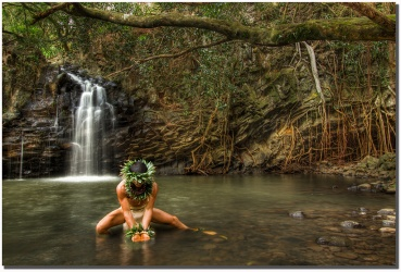 """Wai"" Kawika at Twin Falls Maui"